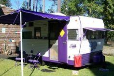'67 shasta astroflyte, purple hippo