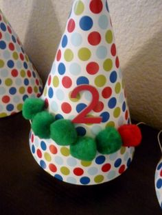 DIY Very Hungry Caterpillar party hats