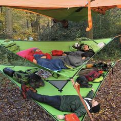 The Trillium by Tentsile is a 3 person hammock that can be used as insulation for your tree tent, as an additional hammock + gear storage hammock camping.