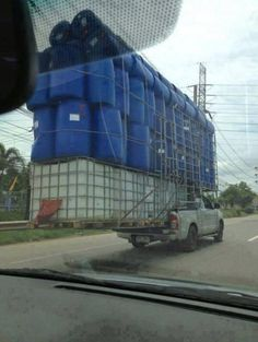 Or they should put a couple more Funny Photo of the day for Tuesday, 28 January 2014 from site Jokes of The Day - Pickup truck overload?