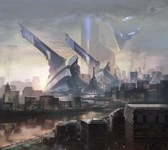 Outpost by FotoN-3   Digital Art / Drawings & Paintings / Sci-Fi   Futuristic Concept architecture city metropolis