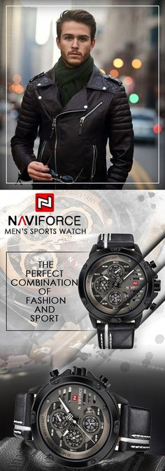 055eae81a079 NAVIFORCE luxury sport watches for the daring and bold! - Men s watch  military sport chronograph