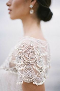 Intricate detail on this wedding gown