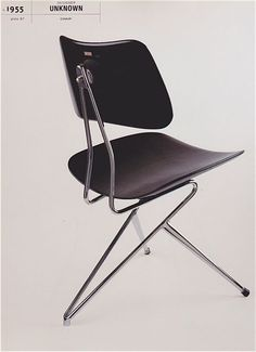 Chromed Metal and Painted Wood Chaor, 1955 by Gio Ponti Painted Wood Chairs, Metal Chairs, Cool Chairs, Design Furniture, Chair Design, Cool Furniture, Modern Furniture, Chaise Chair, Gio Ponti