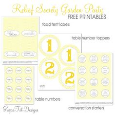 sugartotdesigns: Relief Society Garden Party {free conversation cards}