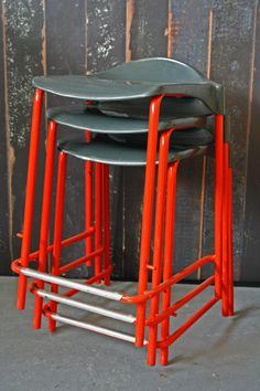 Vintage stools - Suitable For Stacking - £48 each