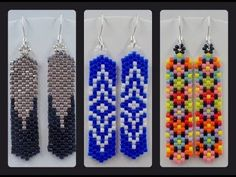 Odd Count Peyote Column Earrings ~ Seed Bead Tutorials