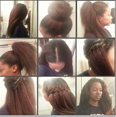 "Crotchet hair but I'd do it on a wig net cap first & make it a ""half wig"""
