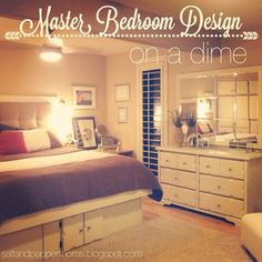 decorating on a dime pinterest small master bedroom 11x13 hotel style bedroom designs 12059