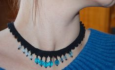 beaded choker1 by malviinamaailm, via Flickr - pattern by Julie A Bolcuc on Ravelry