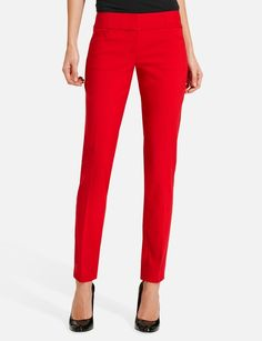 red pencil jeans