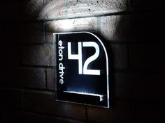 Aurora fabulous LED lit house number sign