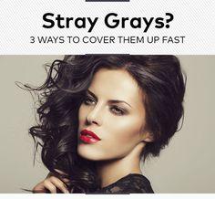 Stray Grays? 3 Ways to Cover Them Up Fast   Beautylish