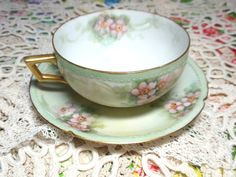 Vinage Antique Teacup and Saucer Fine Bone