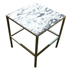 1stdibs.com | Brass SideTable with Marble Top 20 x 20 x 23  $1650