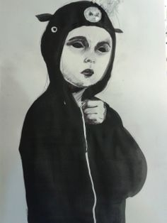 Valeria bertolini   30 day challenge, day 5, your favourite outfit : black pig suit