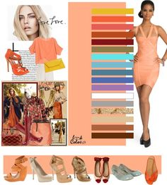 light peach coral: color combinations