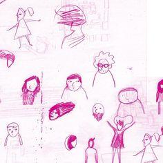 #workinprogress #process #onhb #illustration #faces #expression #sketches #magenta