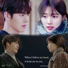 . When I follow my heart, it leads me to you. from ilovemylsi.com post ©owner #함틋 #함부로애틋하게 #다시보기 #UncontrollablyFond #UF #任意依戀 #むやみに切なく #ilove #imiss #kimwoobin #suzy #uncontrollably #fond #ihope #true #pure #love #best #kdrama #bestcouple #quote Korean Drama Quotes, Korean Drama Movies, Korean Dramas, Tv Quotes, Movie Quotes, Uncontrollably Fond Korean Drama, Korean Soap Opera, Fated To Love You, Kdrama Memes
