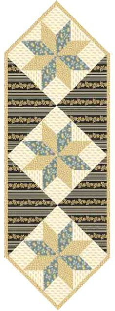 Free Pattern - Star Table Runner from PaperPieces
