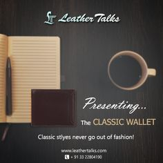 Take a smart decision by choosing from our stunning collection of handcrafted pure leather wallets for your best friend. This wallet promises longevity with elegance. #newyeargift #classicblack http://leathertalks.com/product/classic/