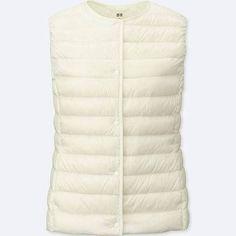 UNIQLO Women's Ultra Light Down Compact Vest, Off White, XS