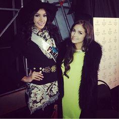 Miss Panamá publicó en su cuenta de Twitter esta foto donde aparece junto a la actual Miss Universo, la estadounidense Olivia Culpo. Revista Ellas