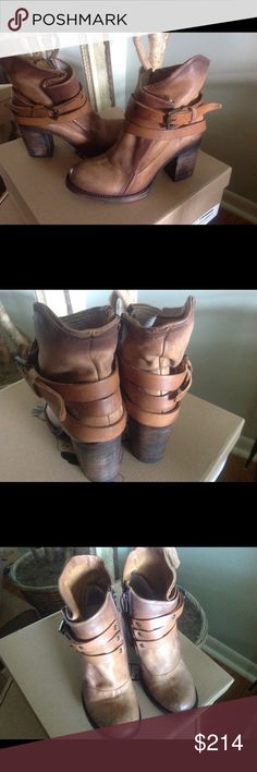 Freebird by Steven Blaze Boot Freebird by Steven Black Cognac/Tan Ankle Boot.  Brand new w/box. No trades. Steve Madden Shoes Ankle Boots & Booties