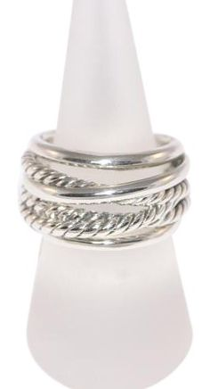 David Yurman CrossOver Sterling Silver Cocktail Ring / Size 7.0. Free shipping and guaranteed authenticity on David Yurman CrossOver Sterling Silver Cocktail Ring / Size 7.0 at Tradesy. David Yurman Sterling Silver CrossOver Ring / Size...