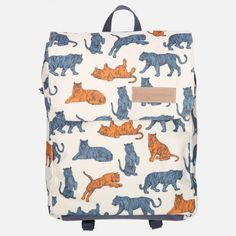 TIGER Kids Backpack from Designvonal // pattern design by Csaba Hutvágner. Designed and made with love in our downtown workshop in Budapest, Hungary. Kids Backpacks, Diaper Bag, Pattern Design, What To Wear, Reusable Tote Bags, Budapest Hungary, Workshop, Products, Fashion
