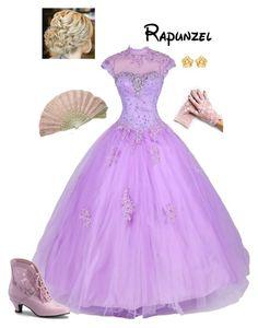 """Disney - Rapunzel"" by briony-jae ❤ liked on Polyvore featuring Funtasma, Pippa, Susan Caplan Vintage and vintage"