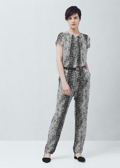 Long printed jumpsuit - Jumpsuits for Woman | MANGO Canada