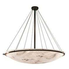 Justice Design Group LumenAria 16 Light Bowl Pendant Finish: Dark Bronze