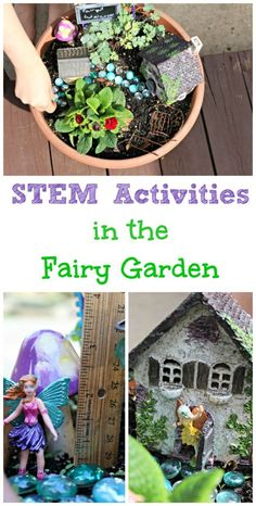 Welcome fairies to your yard while your kids also learn a little science, engineering and math in their own mini-world fairy garden! garden ideas preschool DIY Fairy Garden Ideas & STEM Activities for Kids Stem For Kids, Science For Kids, Science Fair, Science Experiments, Preschool Science, Science Ideas, Outdoor Learning, Kids Learning, Outdoor Education