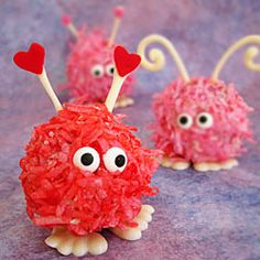 Warm Fuzzy Cake Balls  You're sure to receive lots of smiles when you serve these valentine cake balls. The whole family will have fun…
