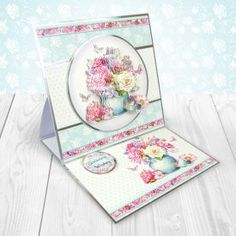A4 Die Cut Hunkydory Toppers Sheet Pretty Posies Floral Various Designs