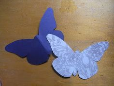 lilcammo93: Butterfly Wall Art - DIY How To
