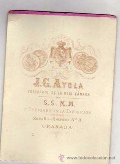 Militaria: Fotografía militar de alta graduación. Uniforme gala. J G. Ayola. Granada. - Foto 2 - 52527774
