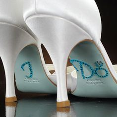 So cute! Custom crystals i do ring-turquoise Wedding Shoes appliques.