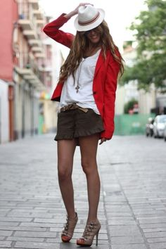 I love short skirts and shorts!  Some day spider veins will take over so for now I'm gonna rock my legs!