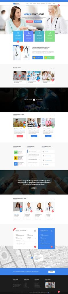 Medix is wonderful PSD Template for #Medical, Doctor and Health Care website. Its download folder consists of 23 layered #PSD files. #website