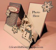 Cricut with Heart: Snowman Side Step Card