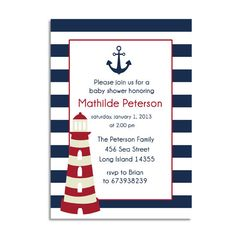 nautical baby shower invitations templates free