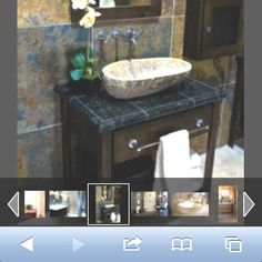 Interesting granite tiles I believe  Bathroom remodel ideas