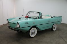 1964 Amphicar 770 Convertible, turquoise with tuxedo interior, older restoration and comes with the original spare, the amphicar was the only amphibious passenger automobile ever made, don't miss your opportunity on this true collector piece that is mechanically sound. For $39,500  If you have any additional questions Please call 310-975-0272