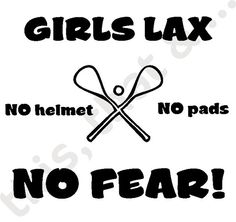 Girls LAX ' No Fear' shirt - Youth XS - L on Etsy, $18.00