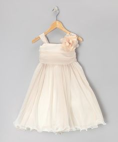 Take a look at this Champagne Chiffon Dress - Toddler & Girls by Kid's Dream on #zulily today!