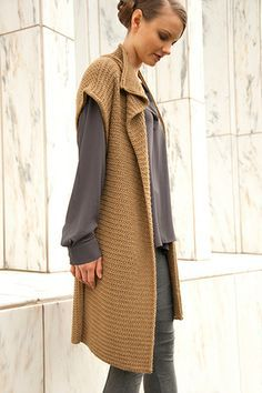 sleeveless knitted jackets - Google Search