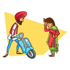 Illustrations Discover Illustration Of A Punjabi Sardar Couple . Indian Illustration, Car Illustration, Rajasthani Art, Love Cartoon Couple, Cute Couple Drawings, Cute Baby Dolls, Mini Canvas Art, Indian Folk Art, Indian Art Paintings