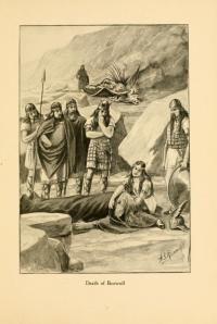 Beowulf, grabado de una edición estadounidense de 1901